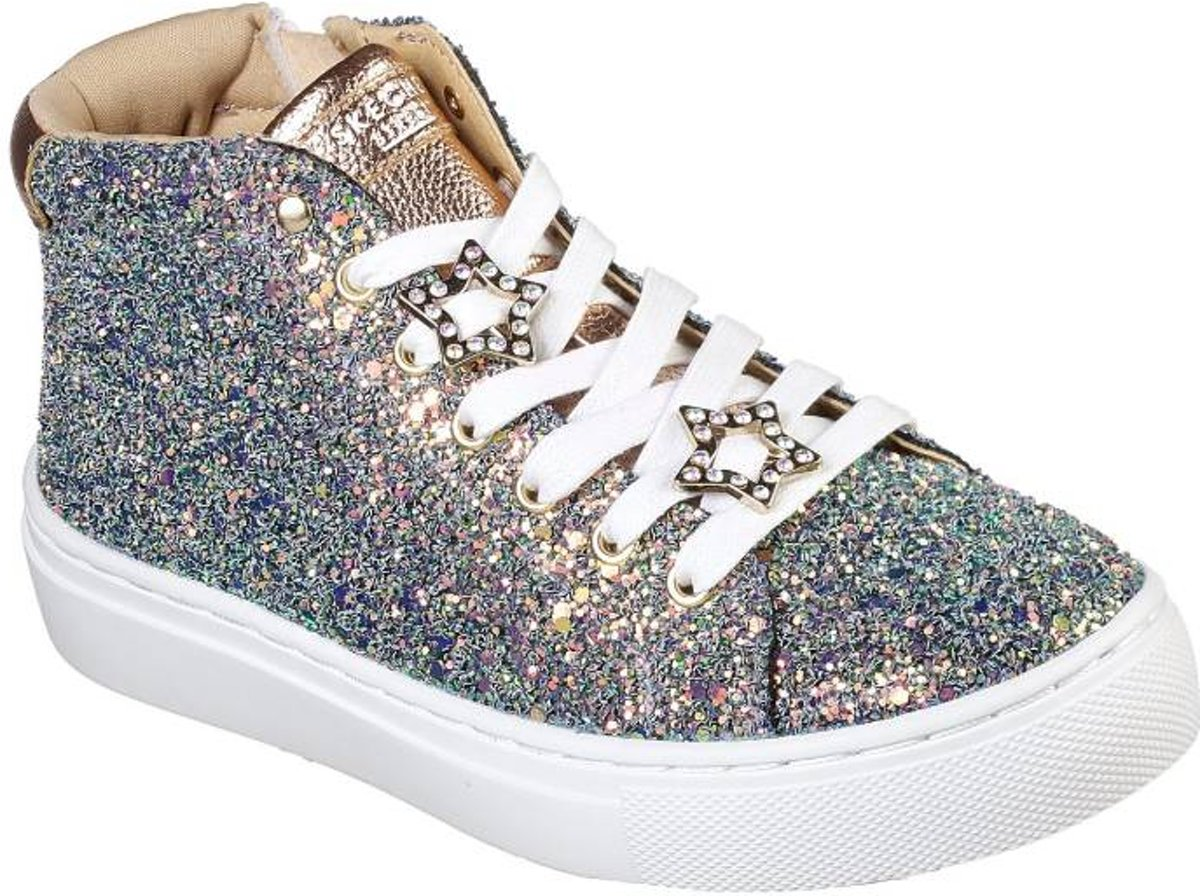 Skechers Sidestreet night life goud sneakers dames