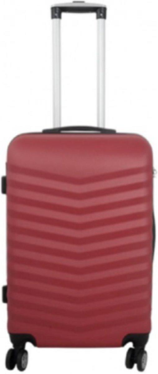 koffer Travelsuitcase kleur rood | 66cm kopen