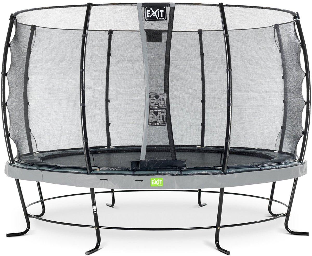 EXIT Elegant trampoline ø427cm met veiligheidsnet Economy - grijs