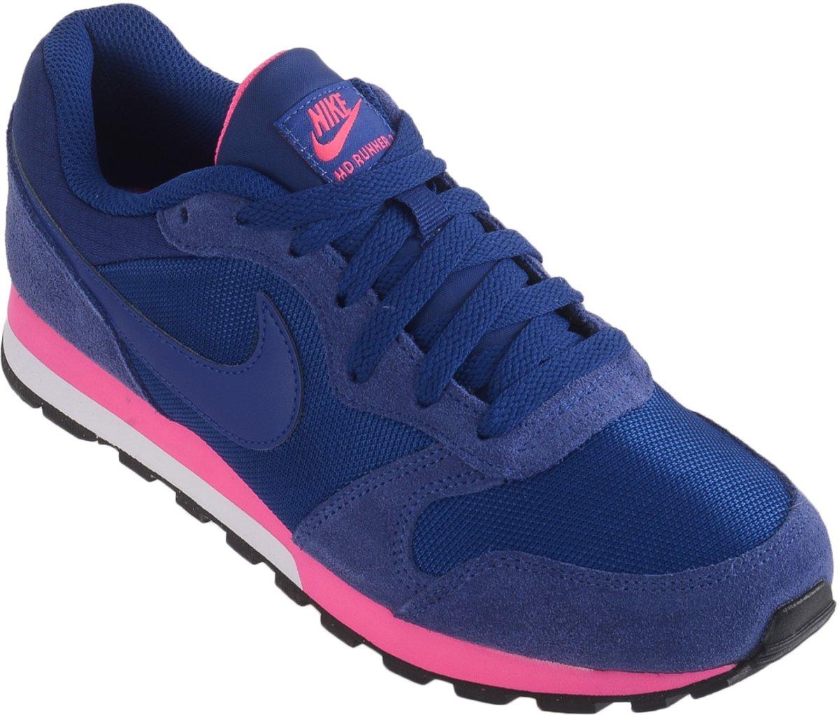 Nike Schoenen Blauw Roze
