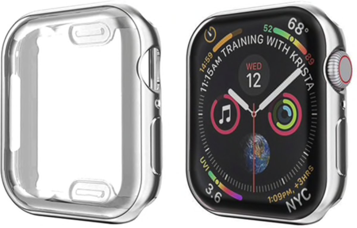 123Watches.nl - Apple Watch slim soft case - zilver - 38mm kopen