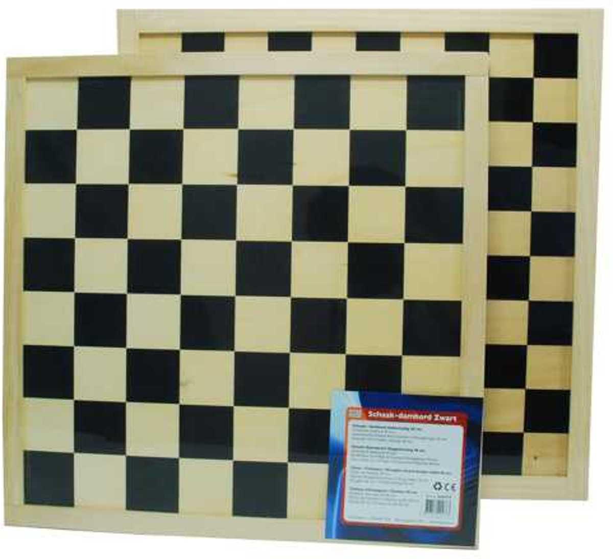 Schaak/dambord blank/zwart 40 cm