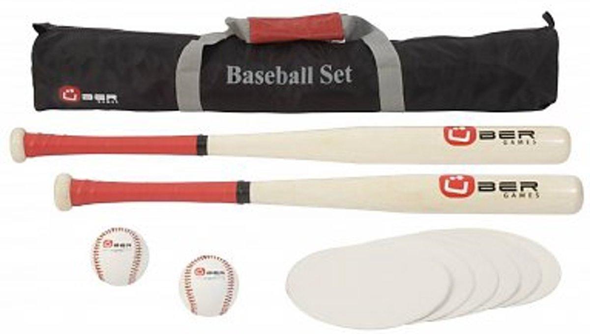 Baseball Set / Honkbal set - uit ECO hardhout, in handige transporttas kopen
