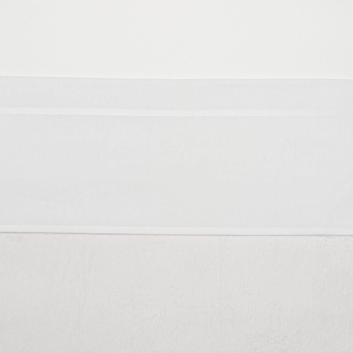 Meyco wieglaken wit met bies 75 x 100 cm - Wit