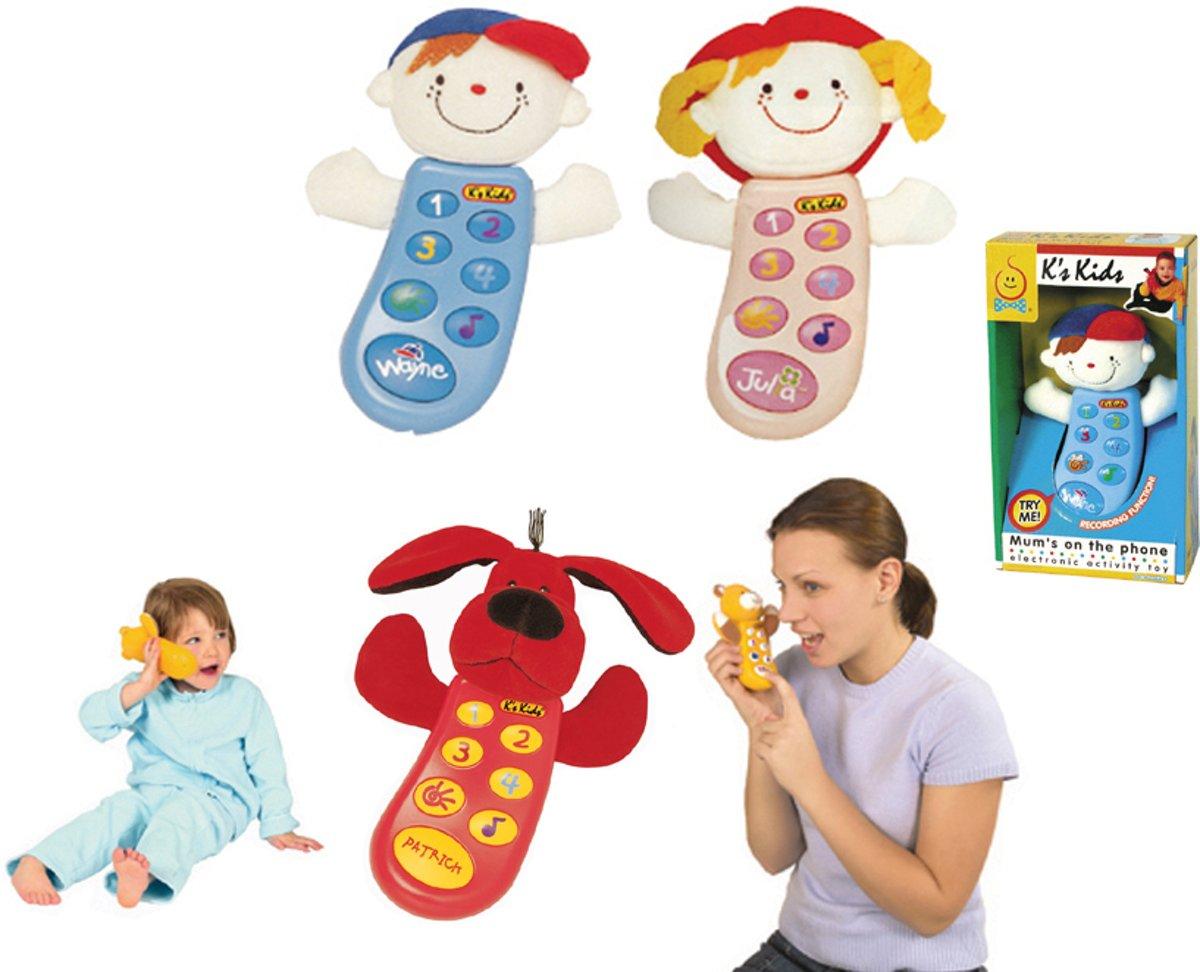 MOM'S ON THE PHONE JULIA educatieve telefoon met recordfunctie