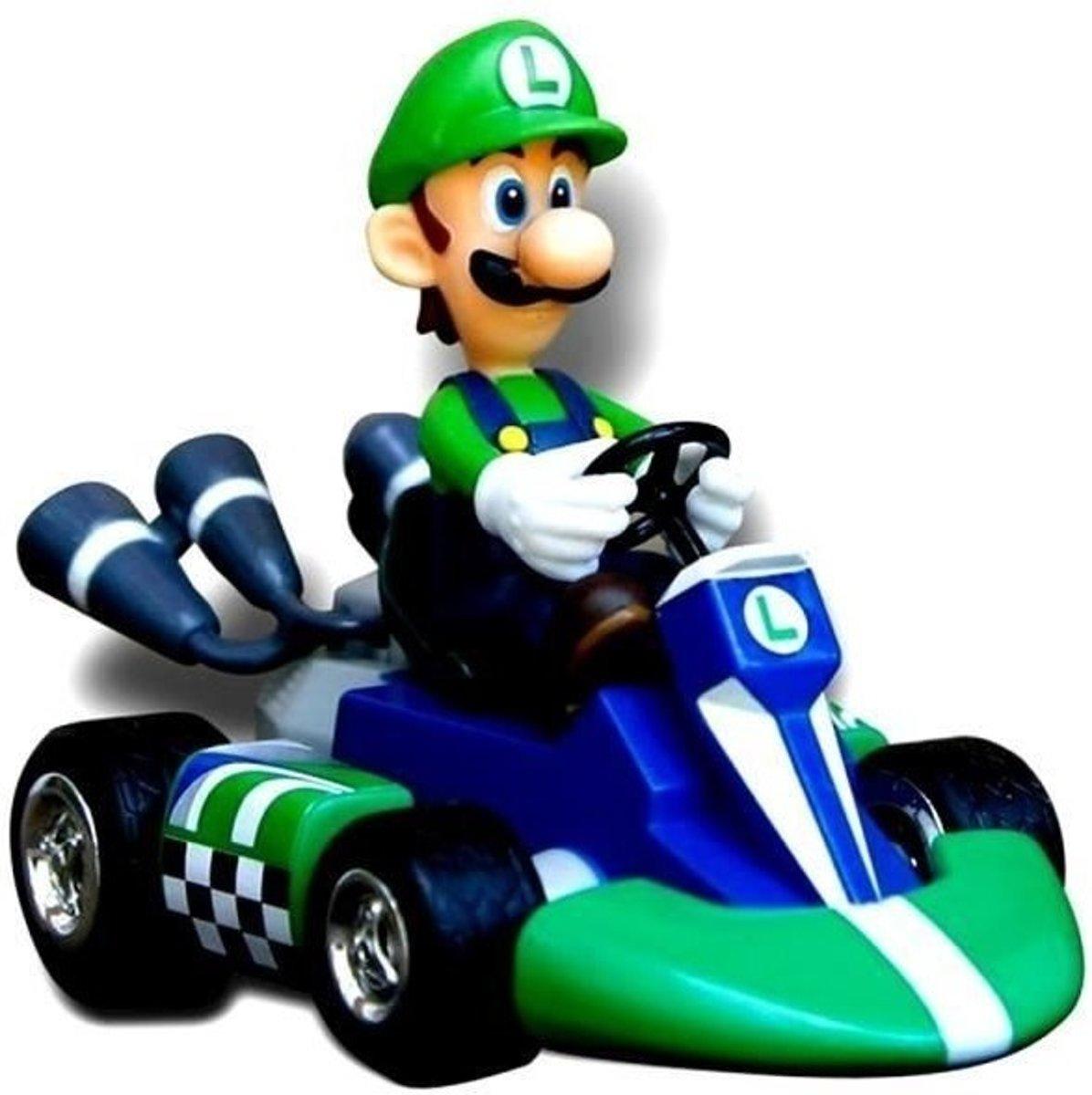 Mario Kart Luigi Pull Back Racers - Mariokart Wii actiefiguur kopen