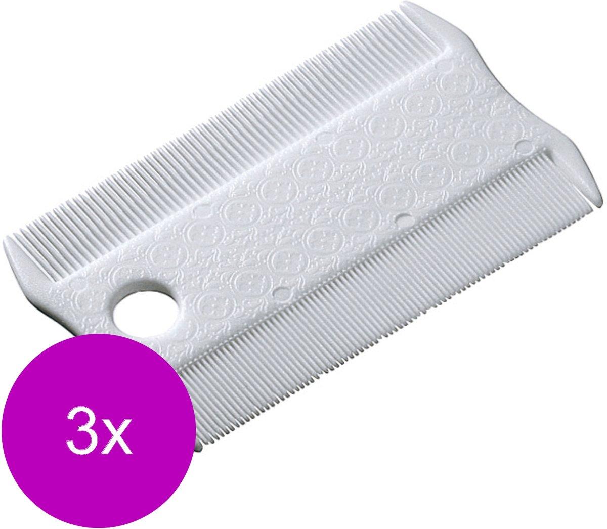Ferplast Vlooienkam Plastic - Hondenvachtkam - 3 x 8.5x5.2x0.3 cm Wit kopen