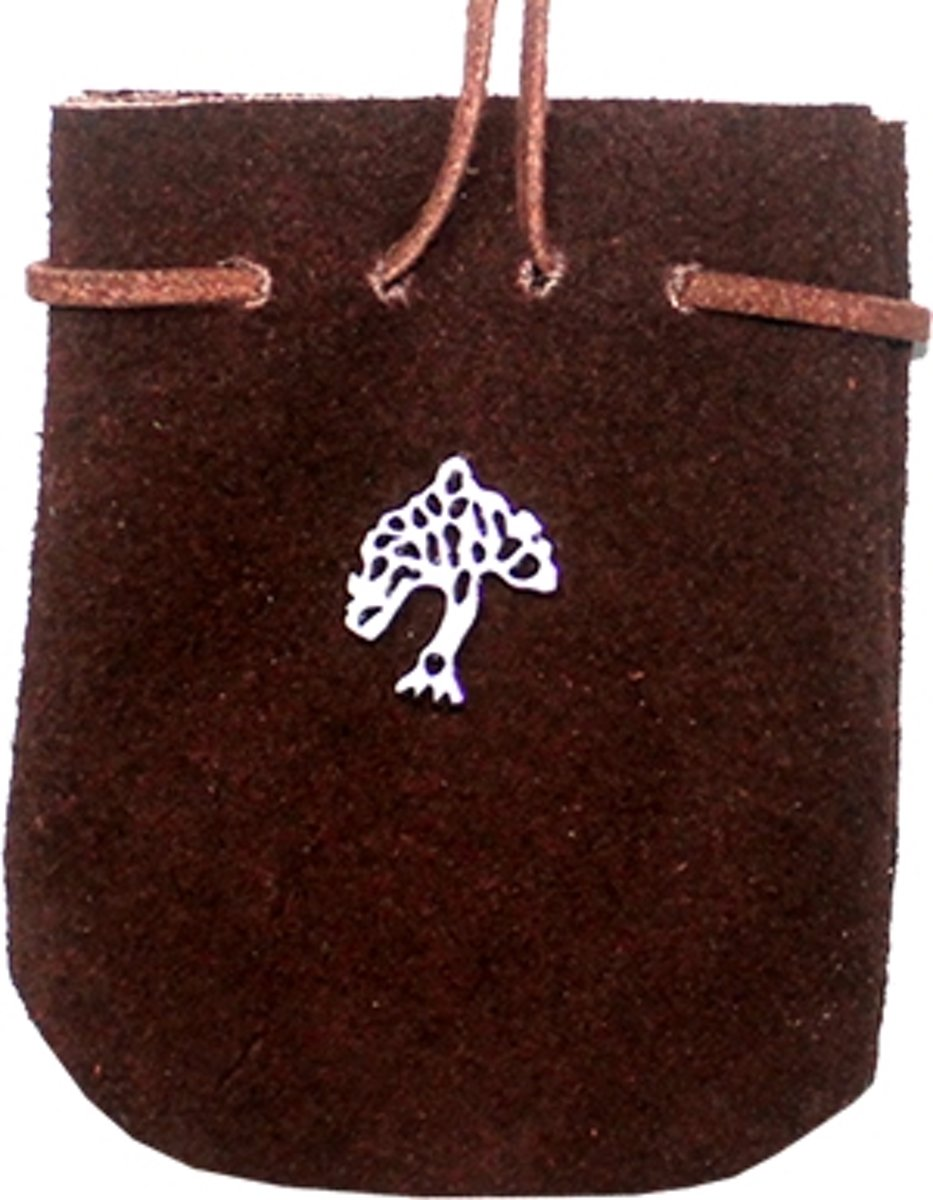 SUEDE POUCH BROWN- TREE kopen