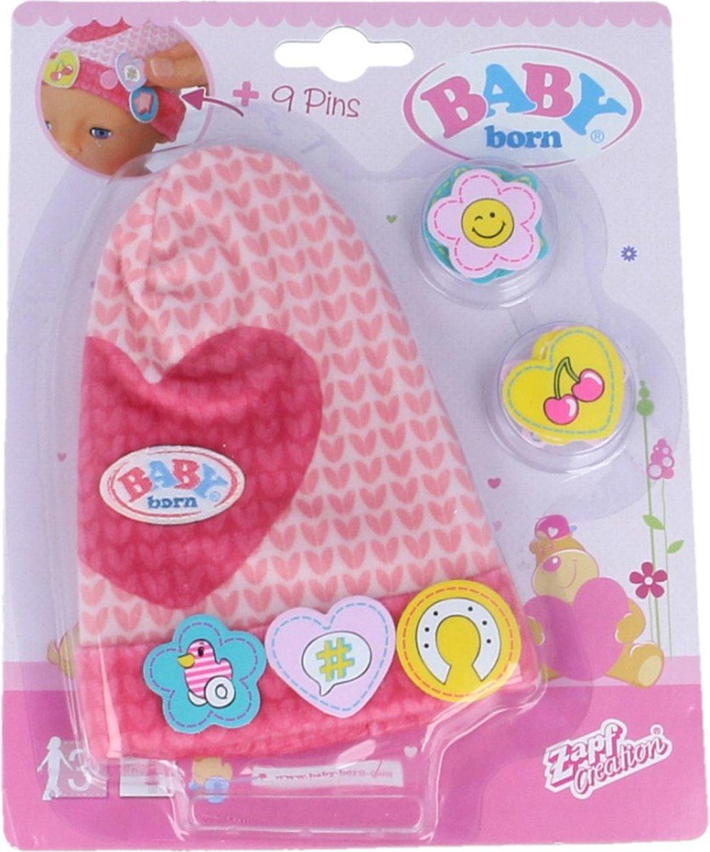 BABY born Cap met leuke Pins Roze