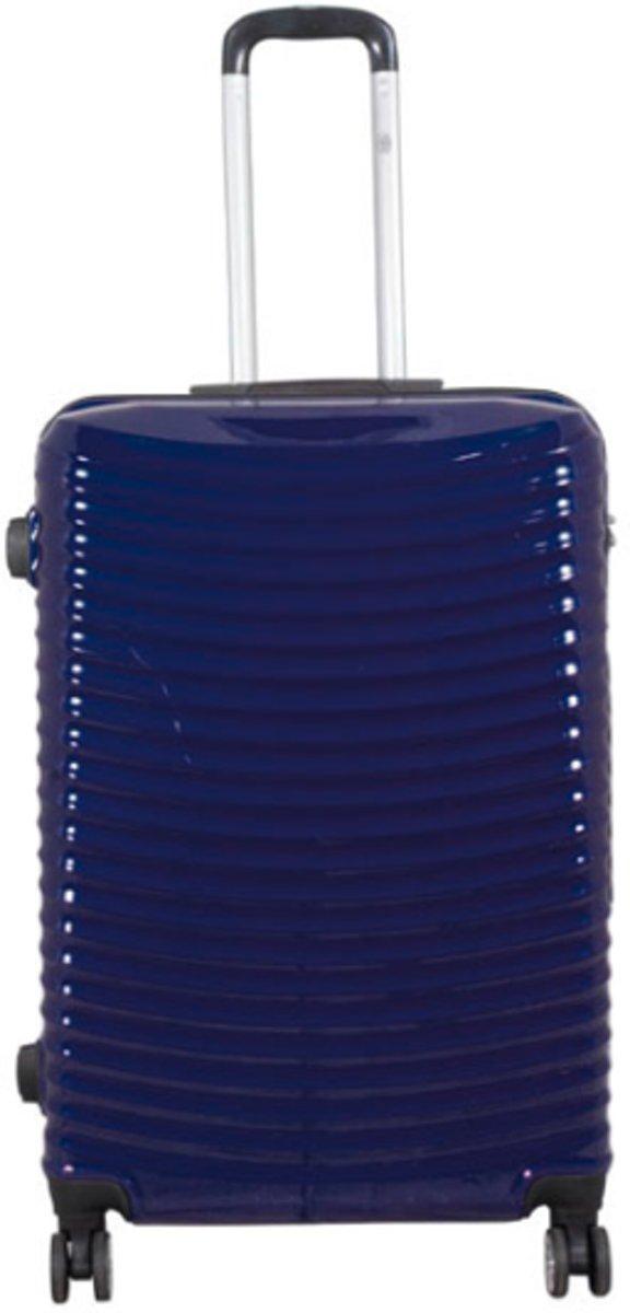 koffer Bunker 100% polycarbonaat Dubbel wiel - blauw | 76cm kopen