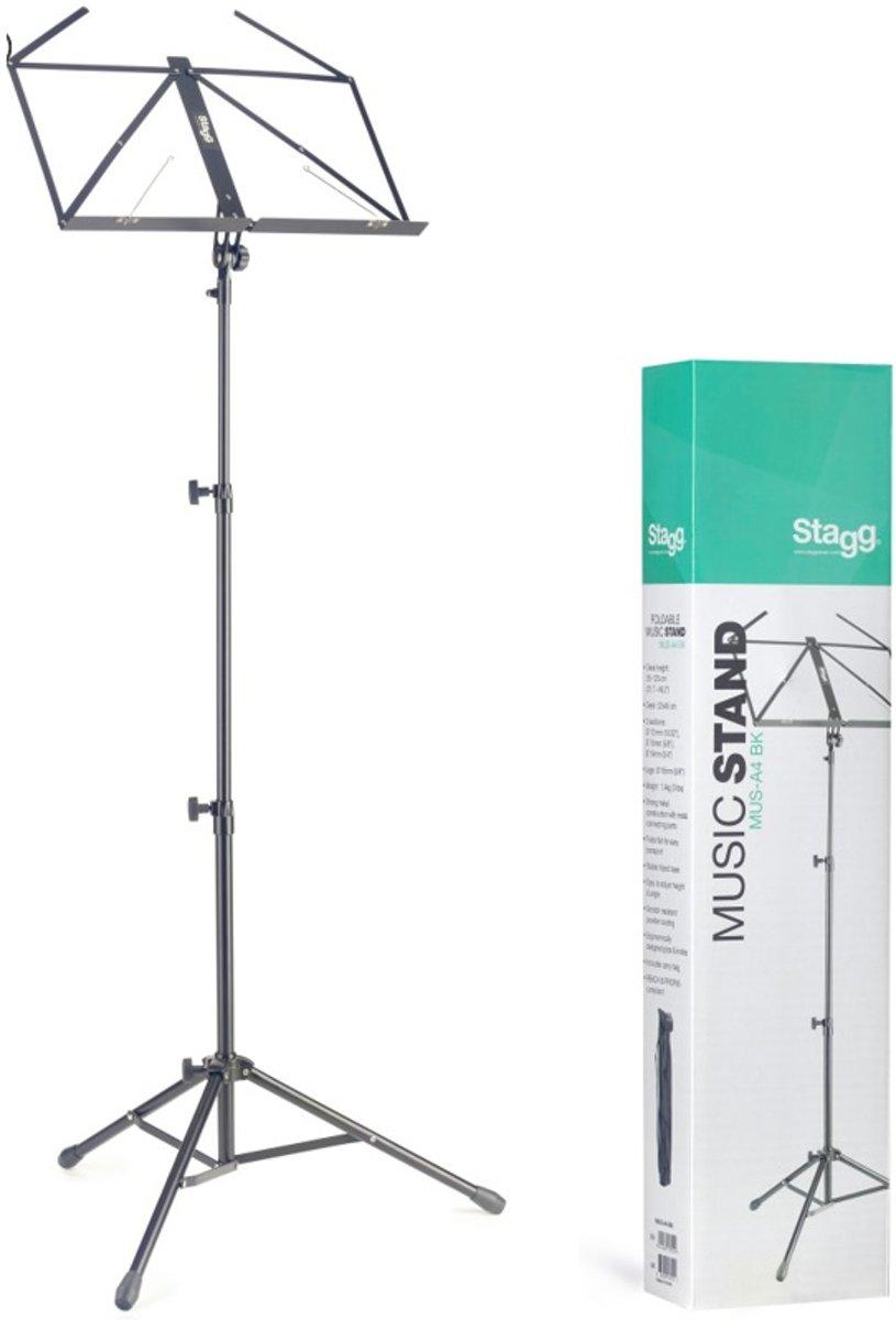 Stagg - MUS-A4 BK Opvouwbare lessenaar met Draagtasje