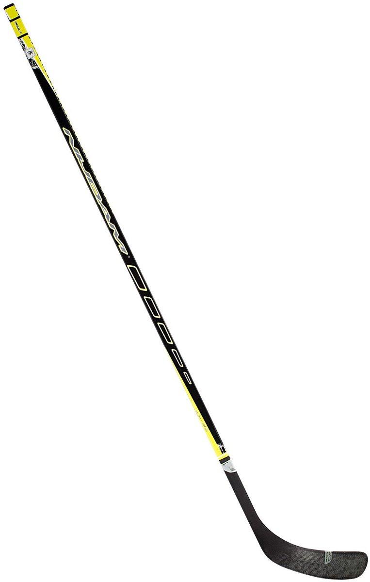 Nijdam IJshockeystick Hout/Glasfiber Sr - 155 cm - Zwart/Fluorgeel/Zilver - Links