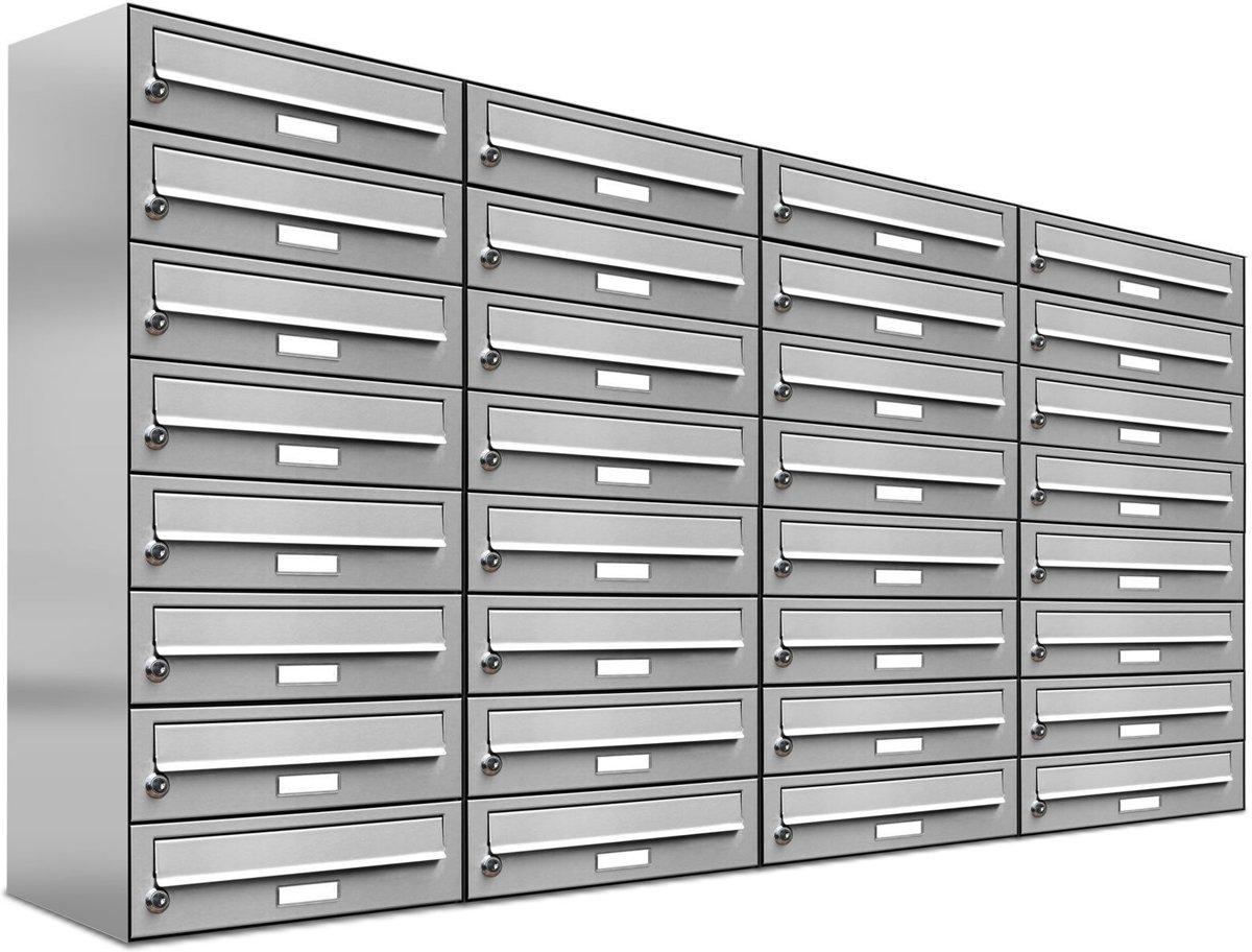 32 personen inbouw brievenbus brievenbus adressen RVS