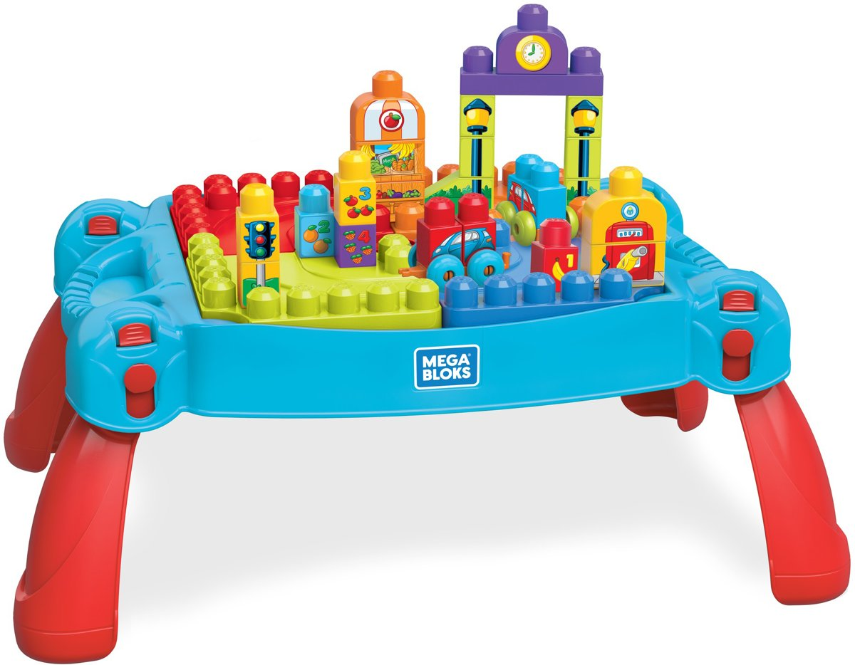 Mega Bloks Tafel : Bol mega bloks bouw en leer speeltafel blauw mattel speelgoed