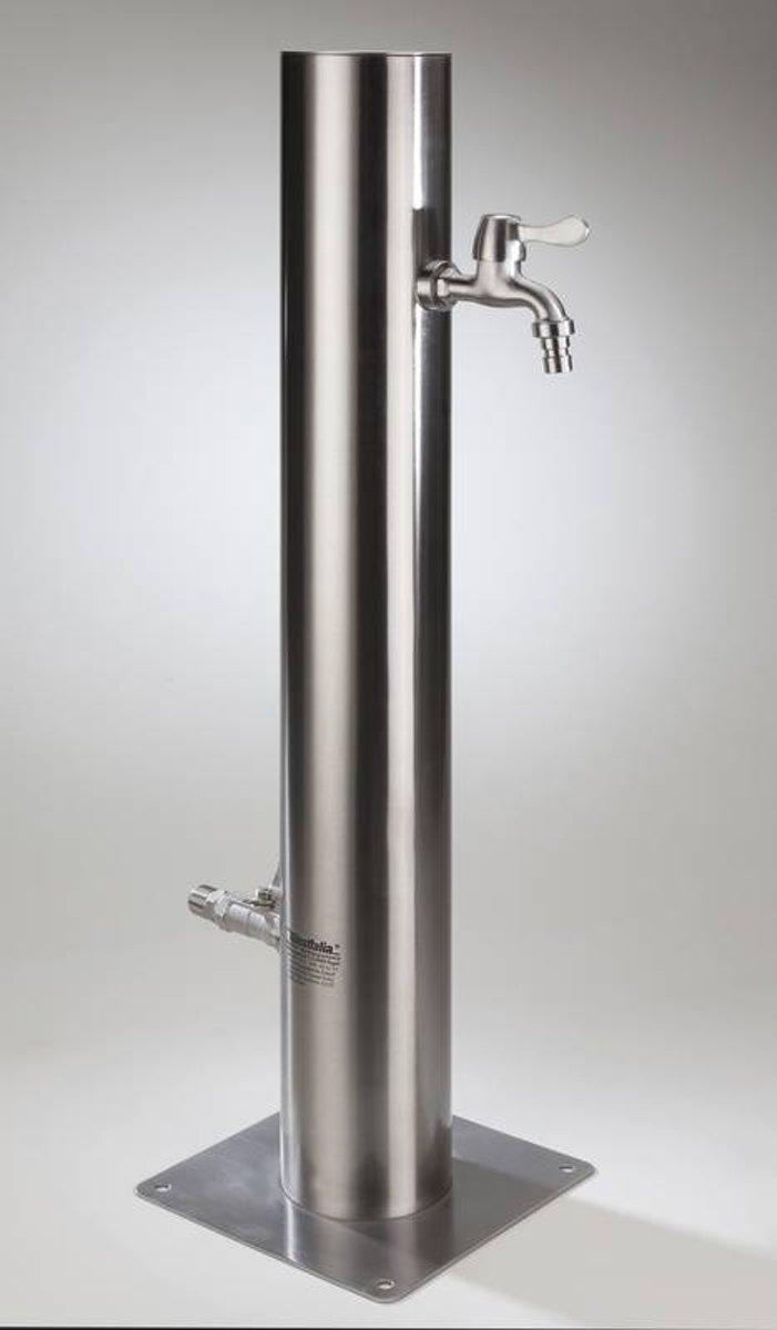Waterzuil RVS met 2 kranen kopen