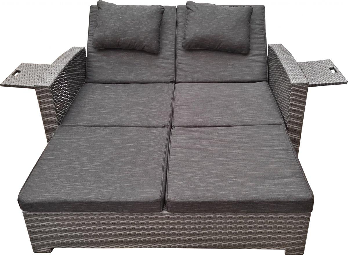 Hampton Loungebed - Twee-zit - Titanium Grey kopen