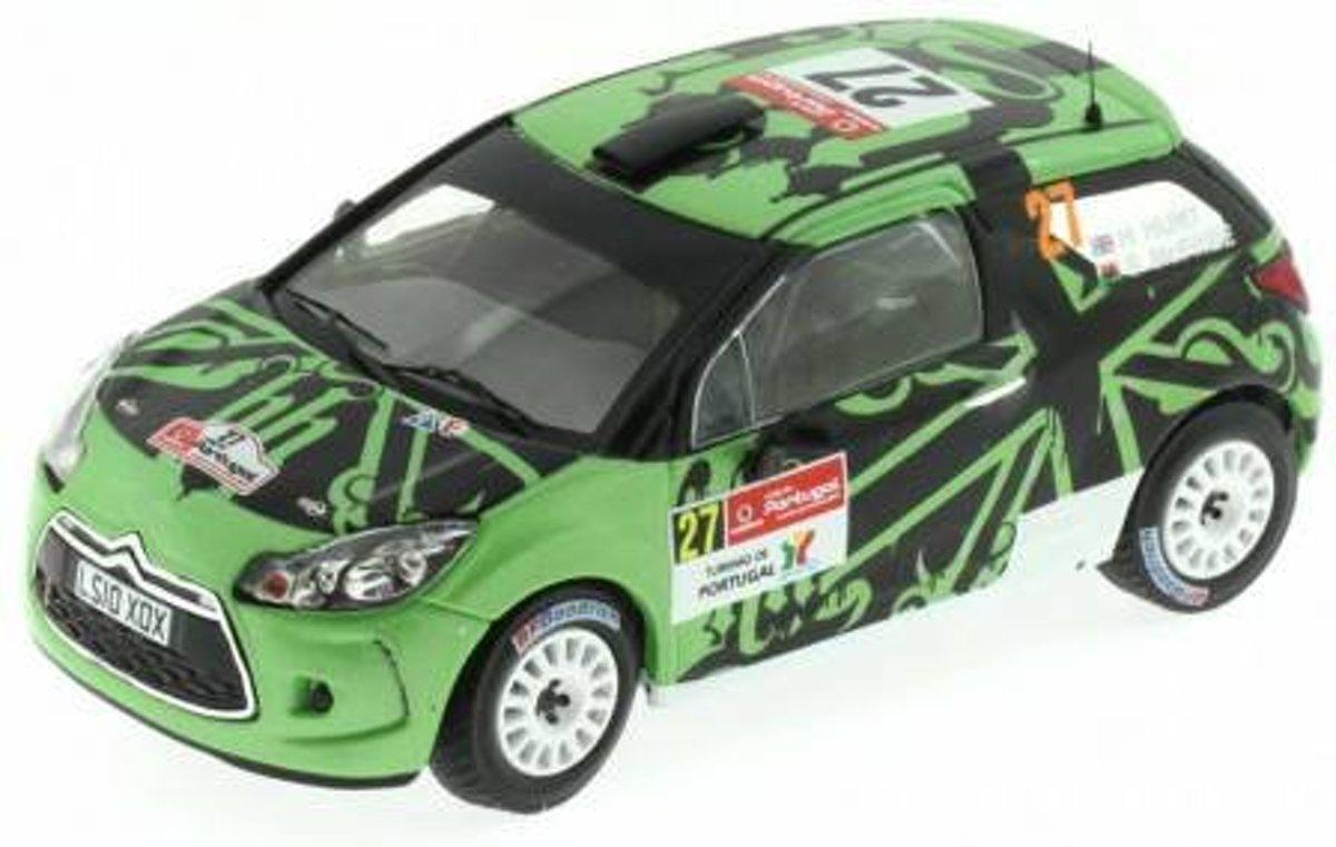 Citroen DS3 R3 #27 Rally Portugal WRC 2011 1:43 IXO Models Groen / Zwart RAM461