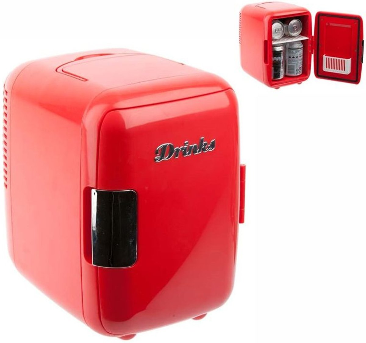 Balvi mini koelkast Drinks - Rood kopen