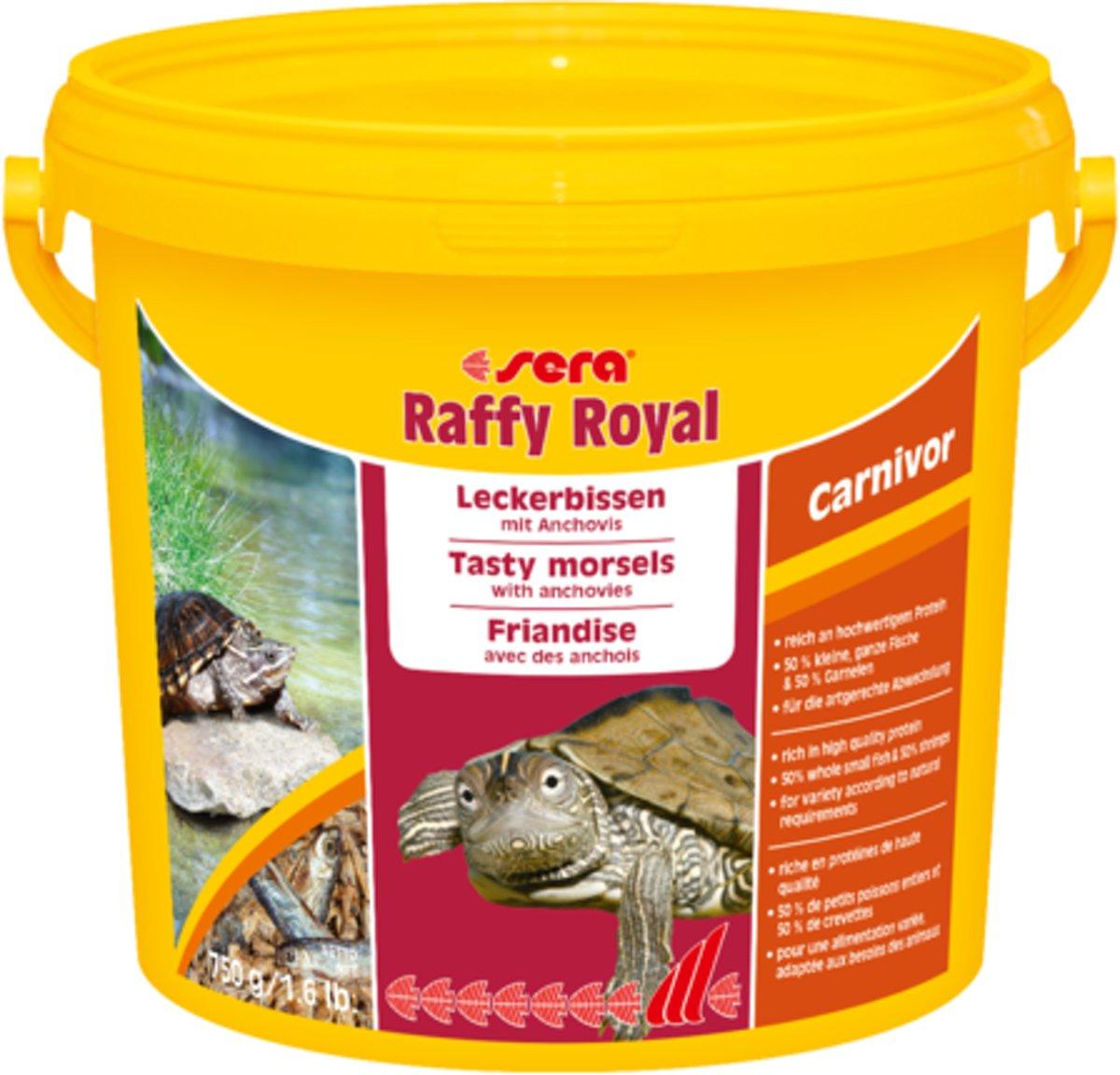 Sera Raffy royal - 3800ml - Reptielenvoer gedroogde visjes schildpadvoer