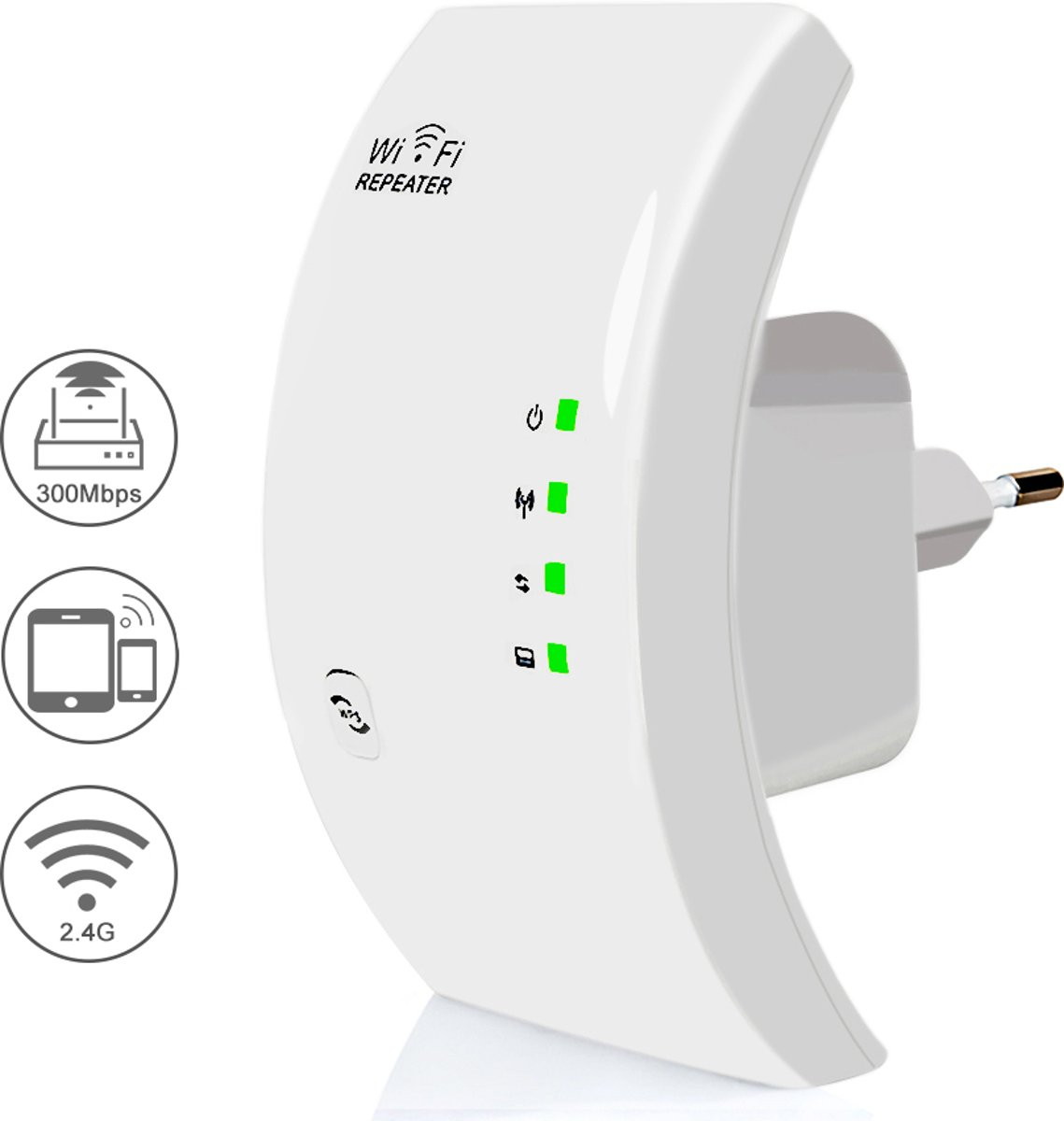 Wifi versterker- range extender- 300 mbps- wifi amplifier- wifi repeater- wit kopen