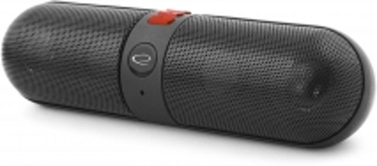 Bluetooth Speaker Piano + FM-radio - zwart-rood kopen