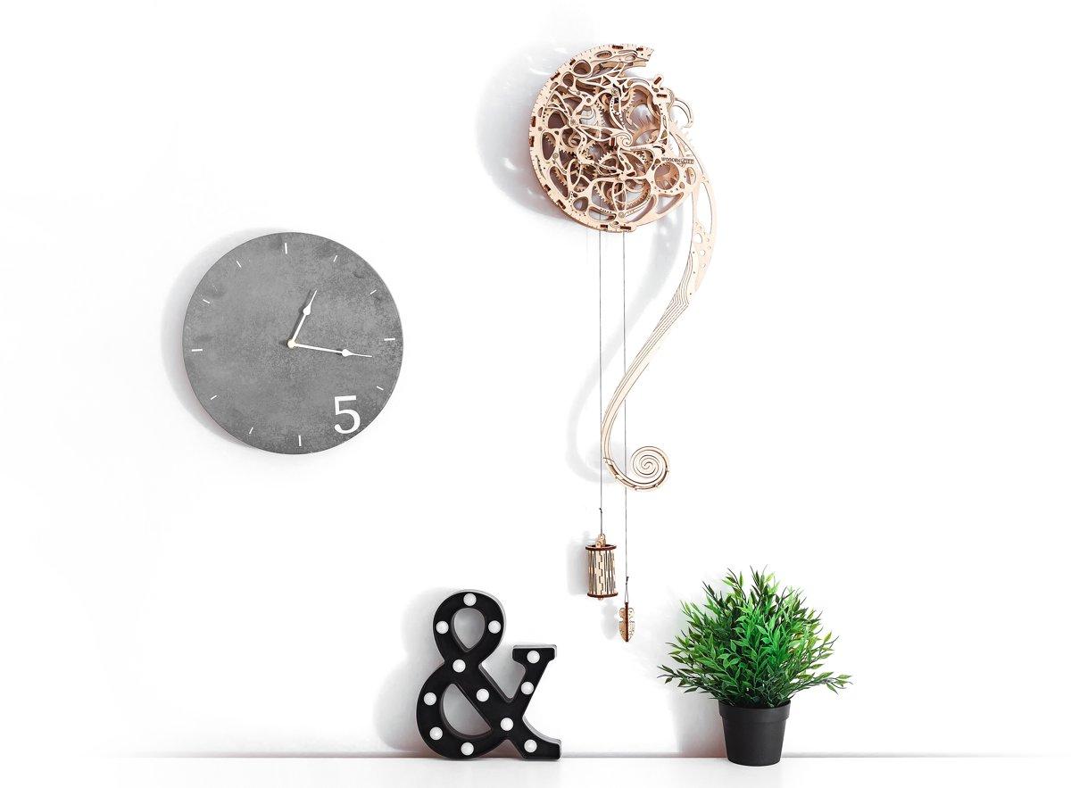 Wooden City Pendulum Klok - Houten Modelbouw kopen