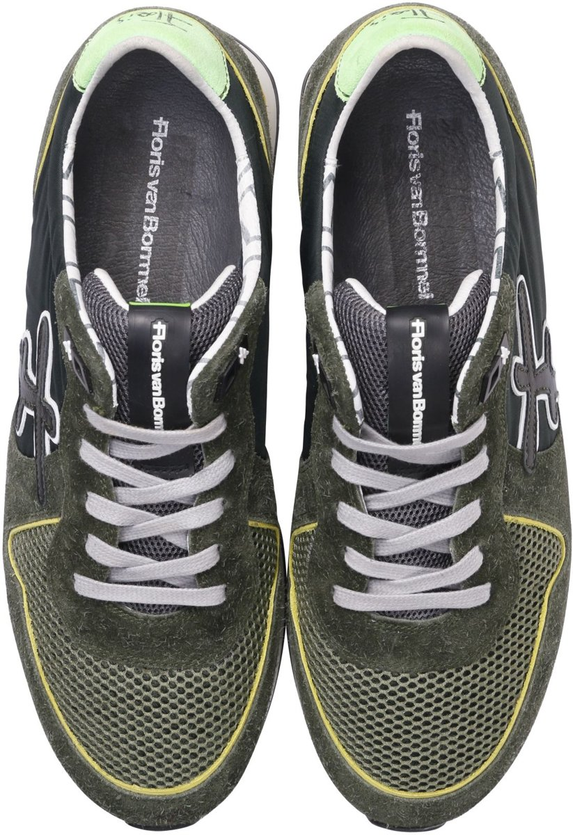 Floris Van Bommel Heren Sneakers 16246 Groen Maat 44