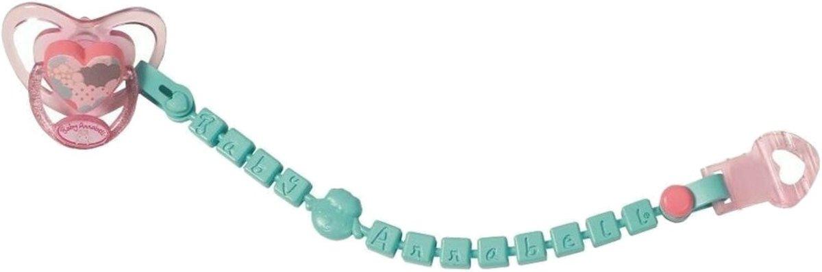 Baby Annabell Fopspeen Met Koord 20 Cm Roze/turquoise