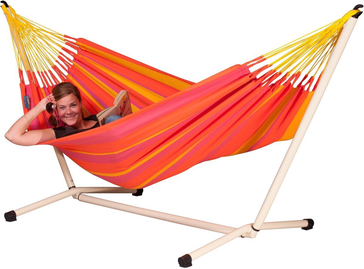 Hangmatset: 1-persoons hangmat Single Hammock SONRISA mandarine + 1-persoons hangmat  standaard  NEPTUNO