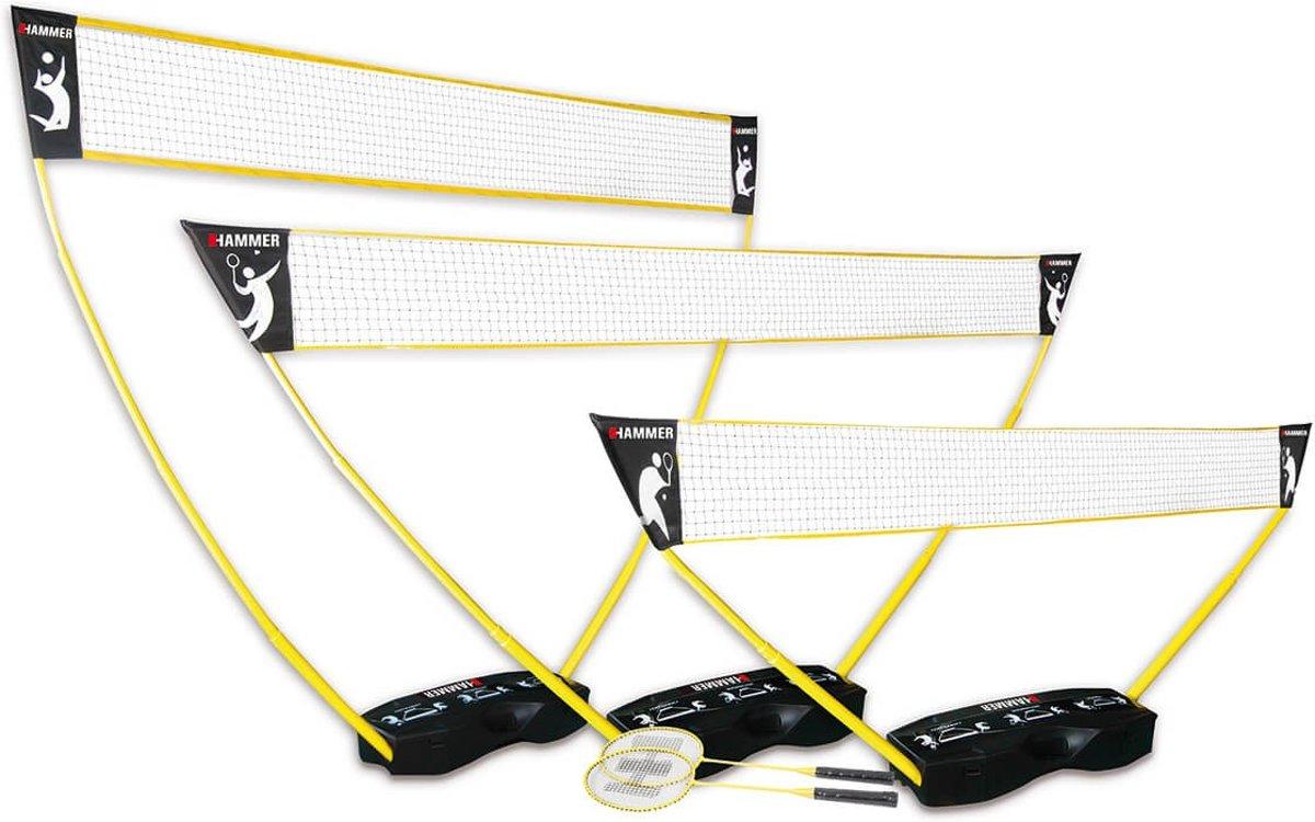 Hammer 3-in-1 set PRO voor volleybal, badminton en tennis - inclusief 2 rackets en 2 shuttles kopen