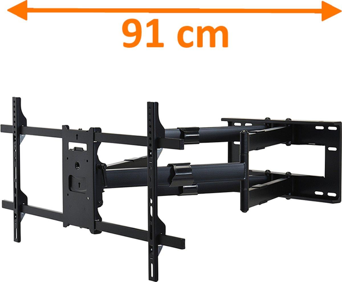 DQ Reach XXL 91 - Kantelbare en draaibare muurbeugel - Geschikt voor tv's van 42 t/m 80 inch - Zwart kopen