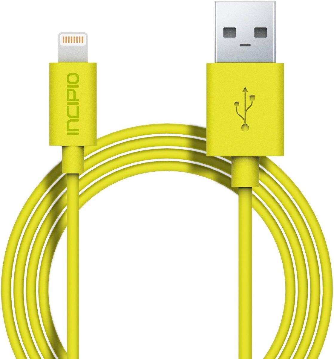 Incipio Charge / Sync Lightning USB Kabel 1 Meter Yellow