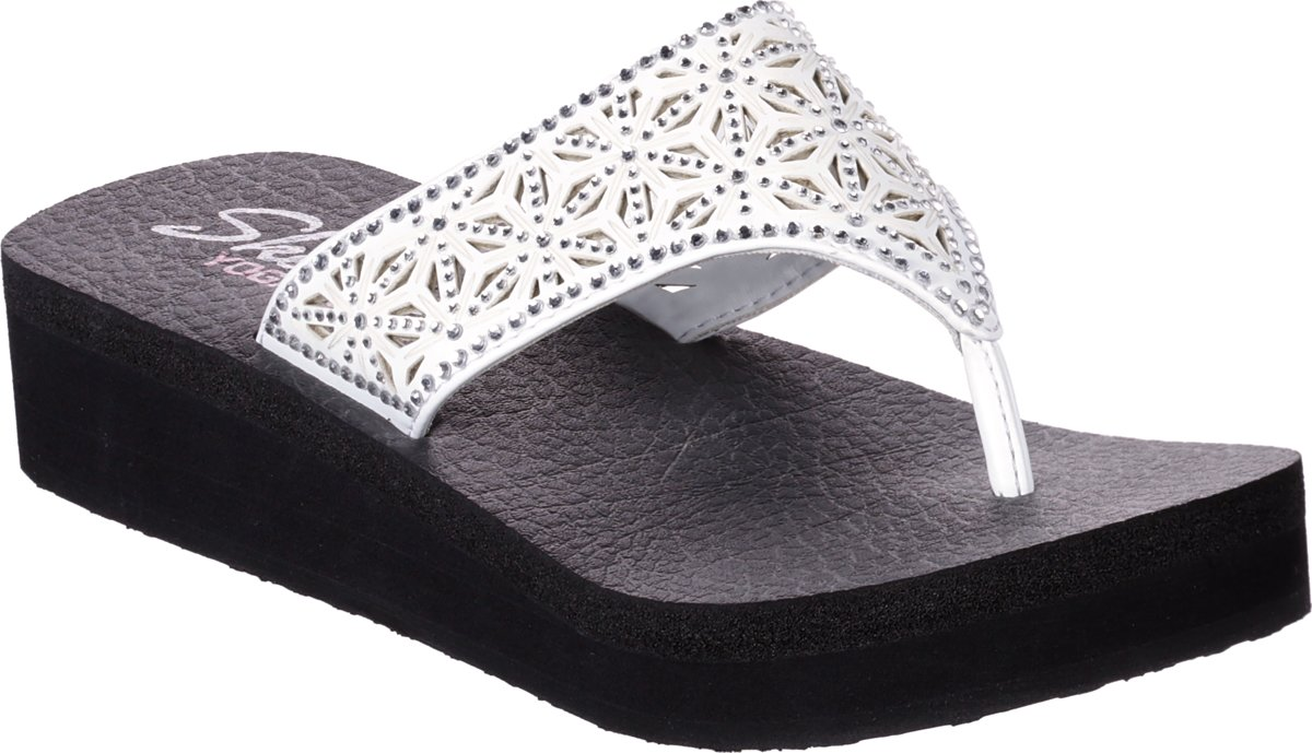 Skechers Vinyasa Glass Star Slippers Dames Black Maat 38