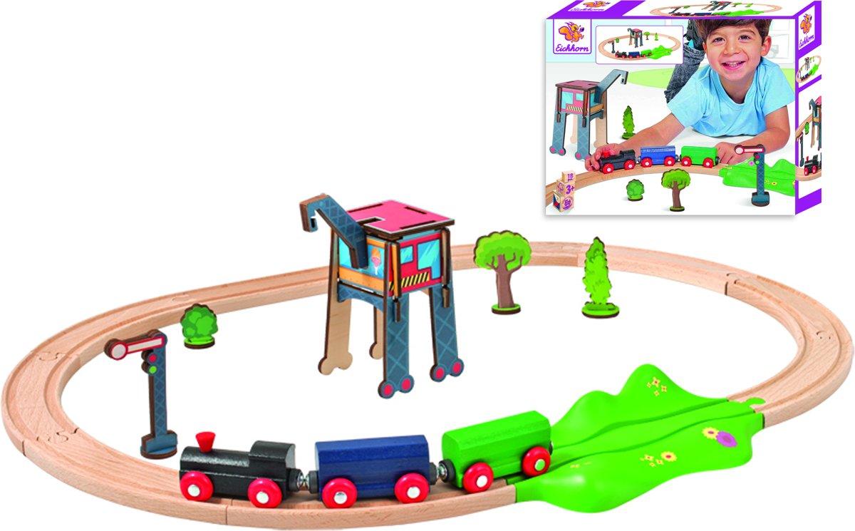 Eichhorn Houten spoorbaan - 18-delig