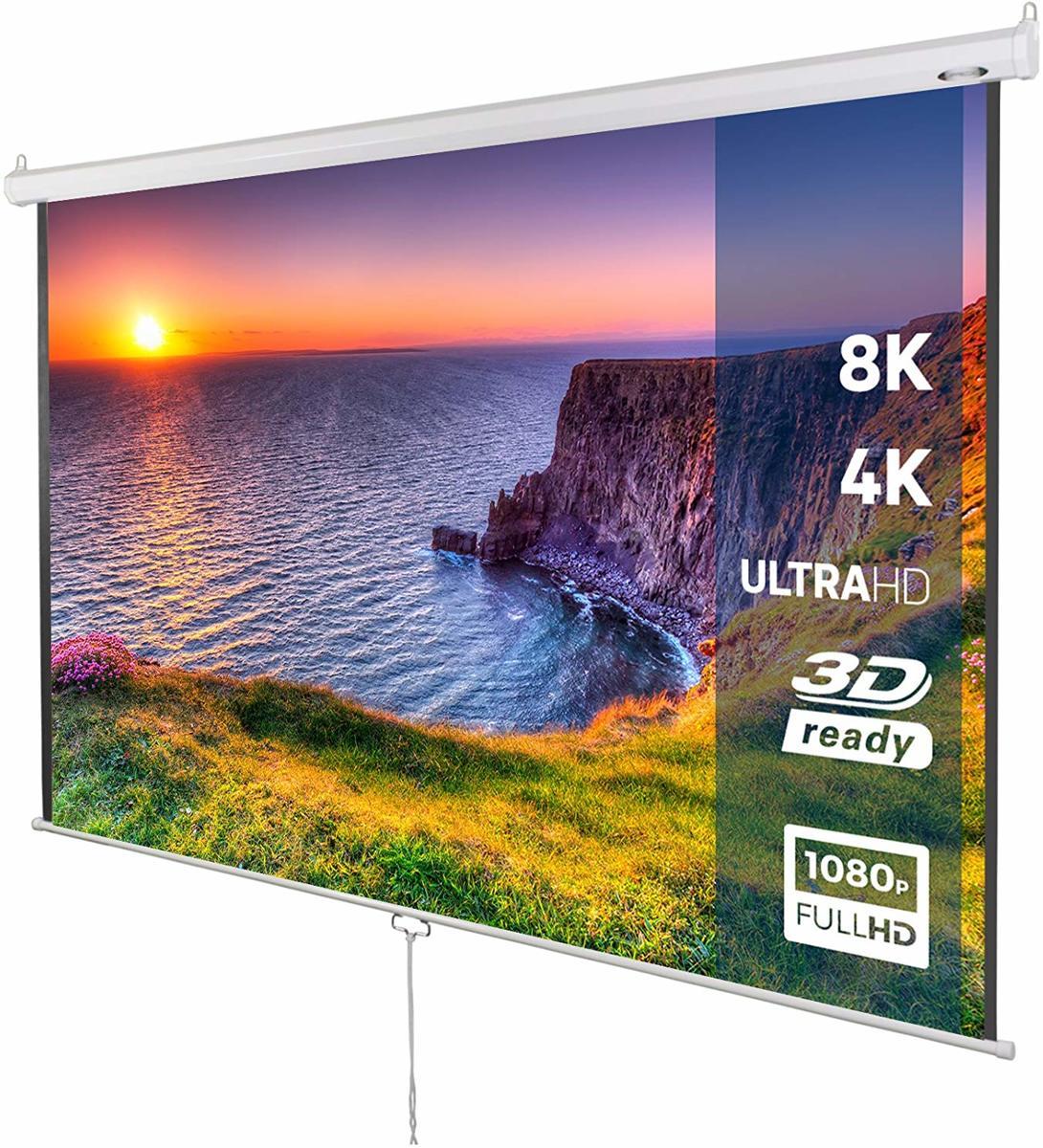 Projectie scherm - beamer - 178x178 cm - 3D HD 4K compitabel kopen