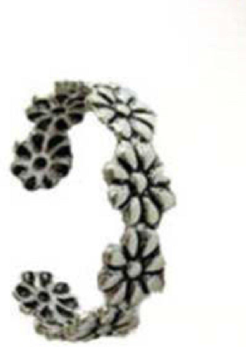 Charme Bijoux Teenring - Bloem- verstelbaar kopen