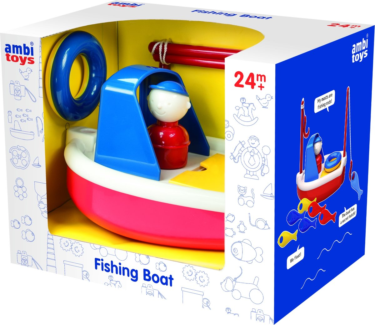 Ambi Toys - Vissersboot voor in bad