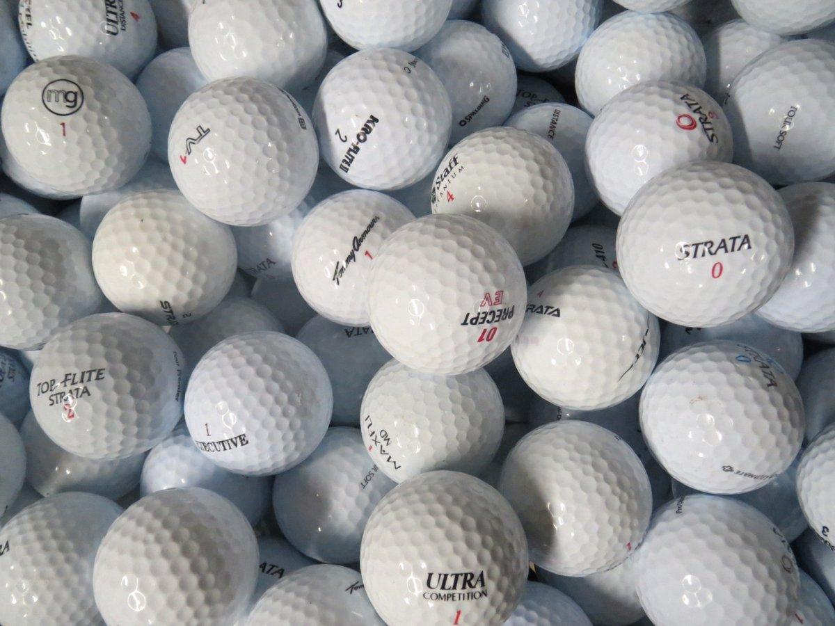 Golfballen gebruikt/lakeballs Mix wit AAAA klasse 100 stuks