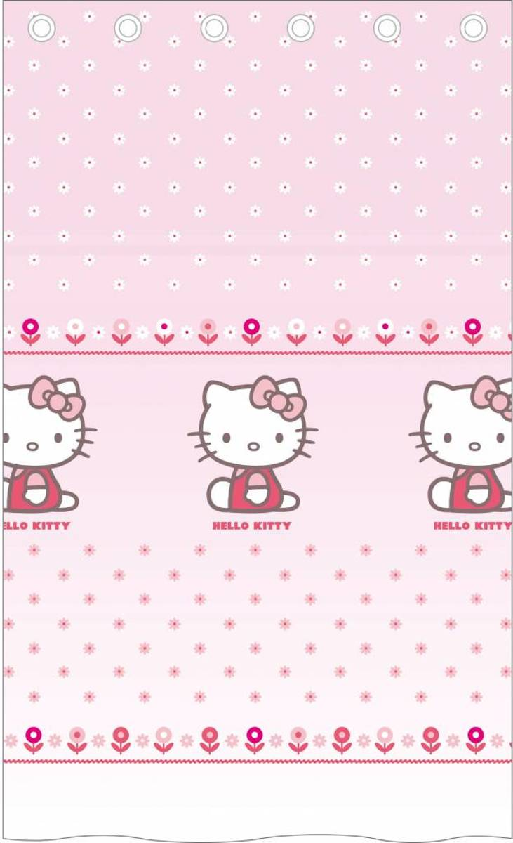 Hello Kitty Caroline - Vitrage / Gordijn - 140 x 240 cm - Roze kopen