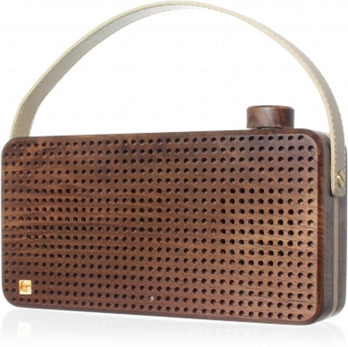 Kitsound bluetooth speaker Soul walnoothout - ingebouwde microfoon kopen
