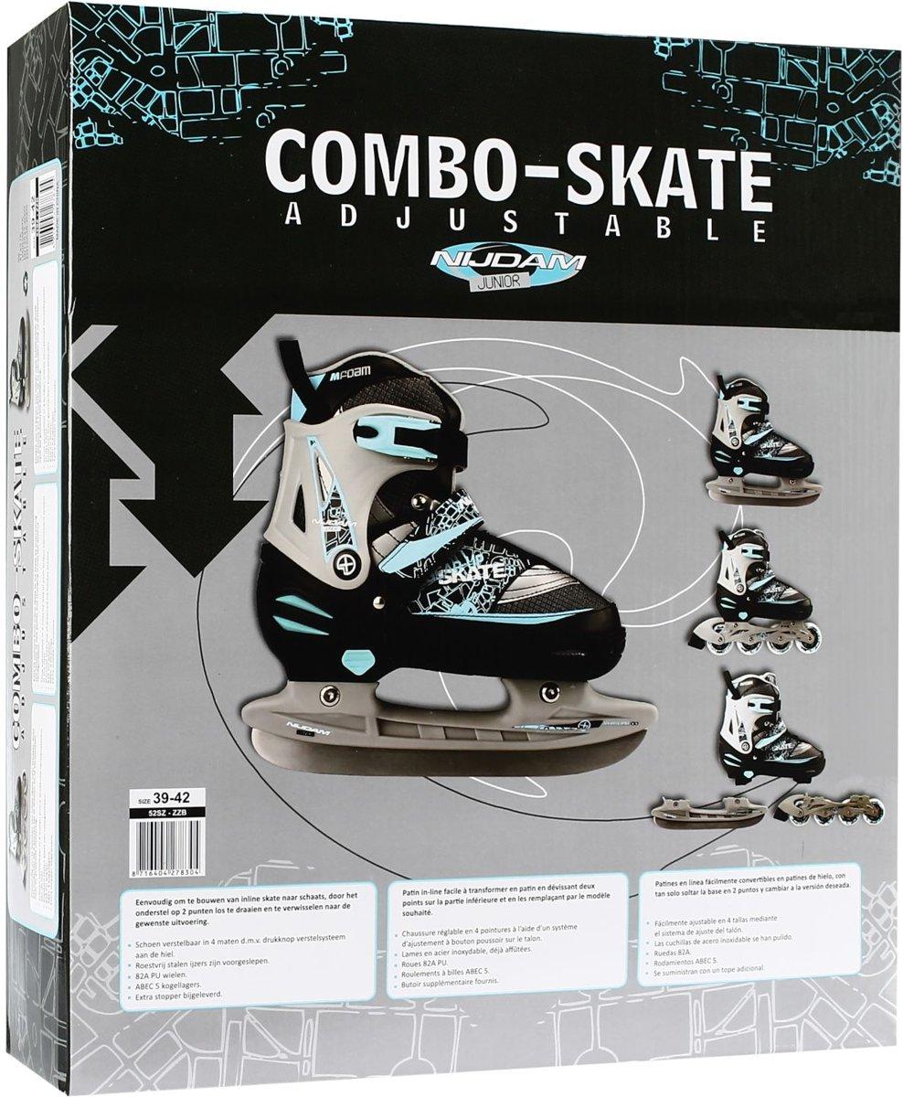 76d582bb2a2 bol.com | Nijdam Junior Skate/Schaats Combo - Semi-Softboot - Zwart - Maat  27-30