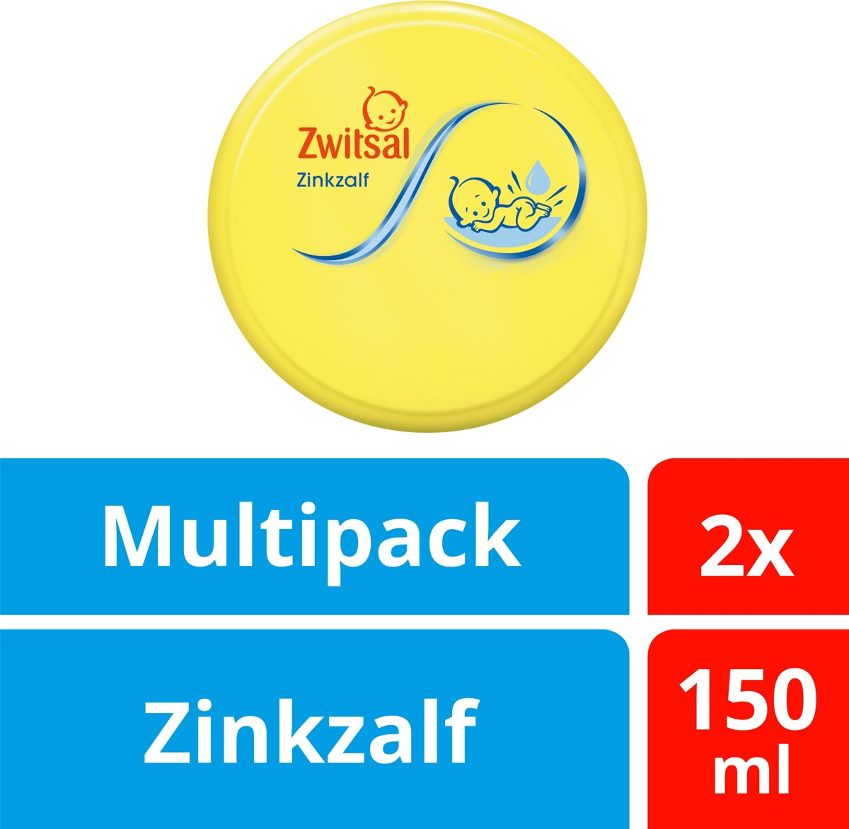 Zwitsal Baby Zinkzalf - 2 x 150 ml -Voordeelverpakking kopen