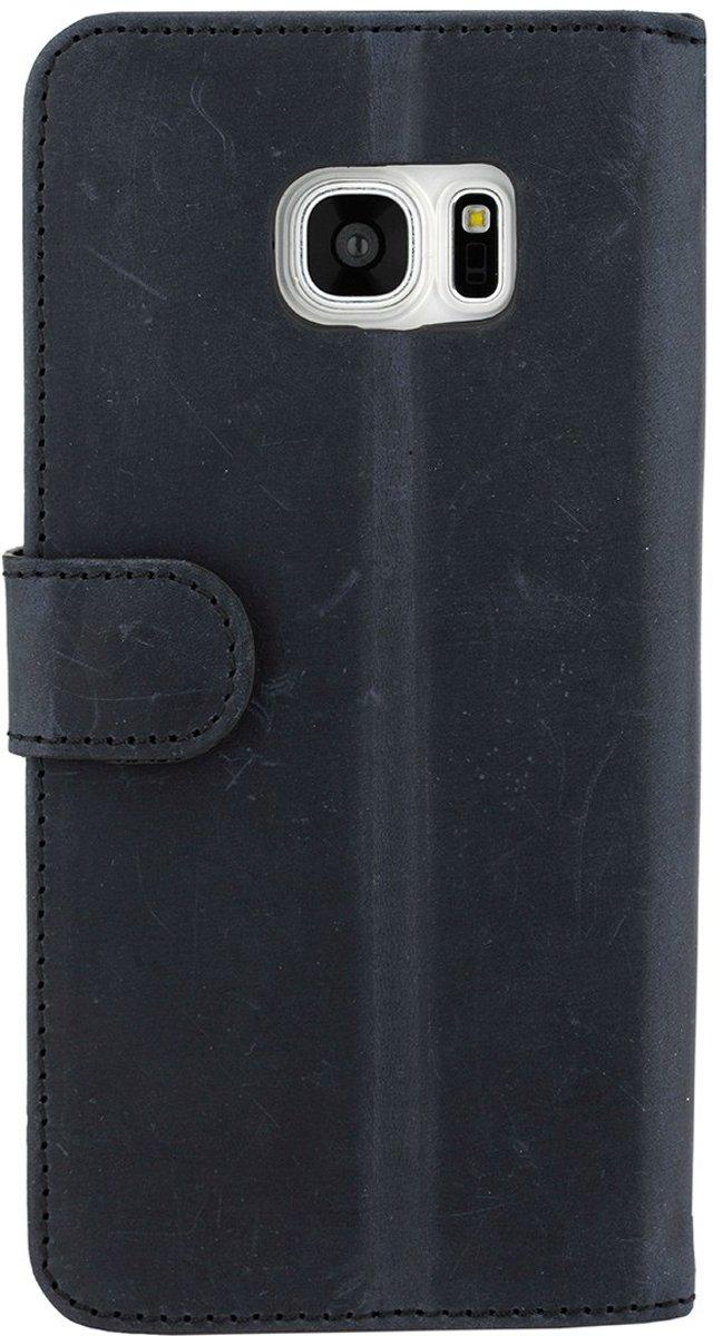 Type De Livre En Cuir De Luxe Pour Samsung Galaxy S7 - Bleu TrIVIFPzF6