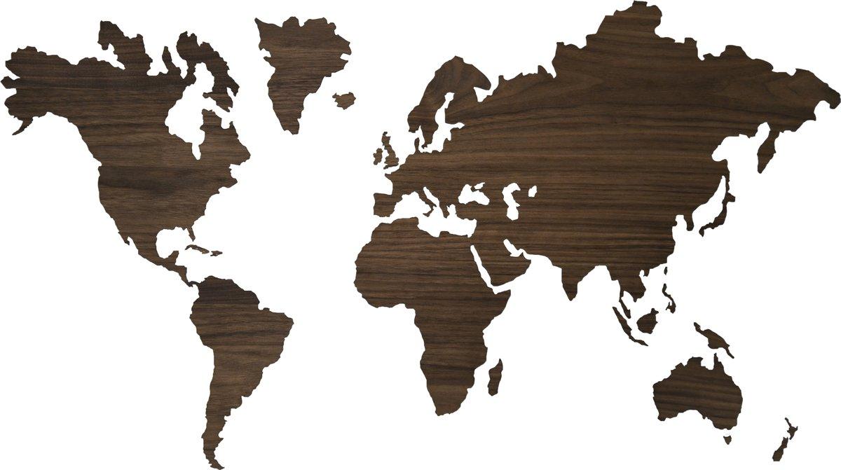 Sticky World map notenhout