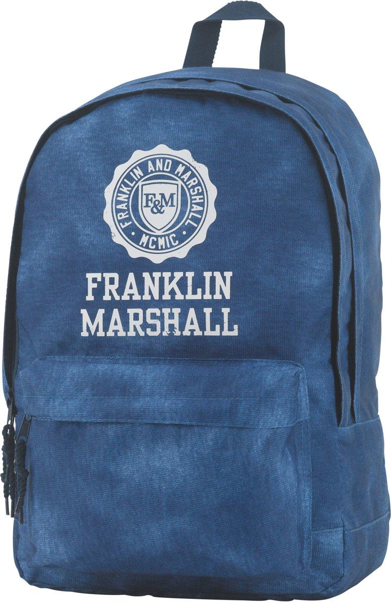 Franklin & Marshall Campus Double -  Rugzak - Vintage Blue kopen