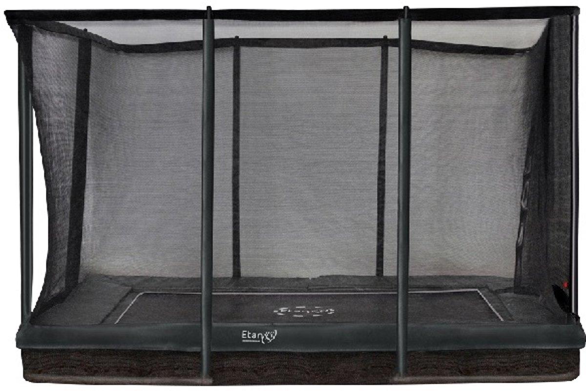 Etan Inground Premium Gold Combi Trampoline set 310 x 232 cm - inc. Veiligheidsnet - Groen - Rechthoekig