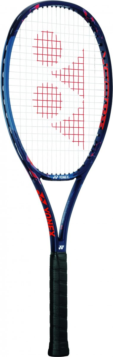 tennisracket VCore Pro 100 blauw/rood gripmaat L2