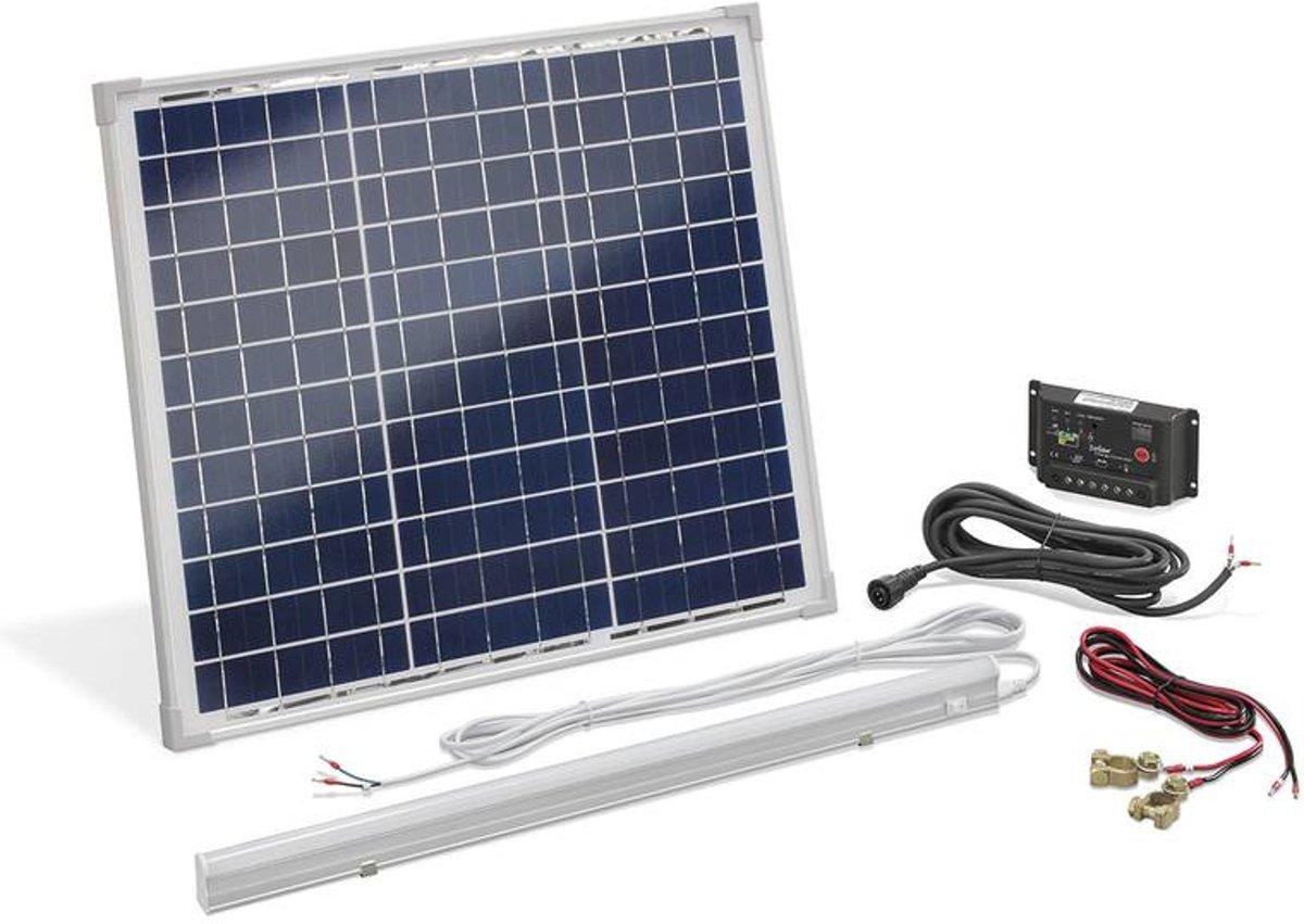 Powersysteem op zonne-energie 30 W met 8 W LED-lamp kopen