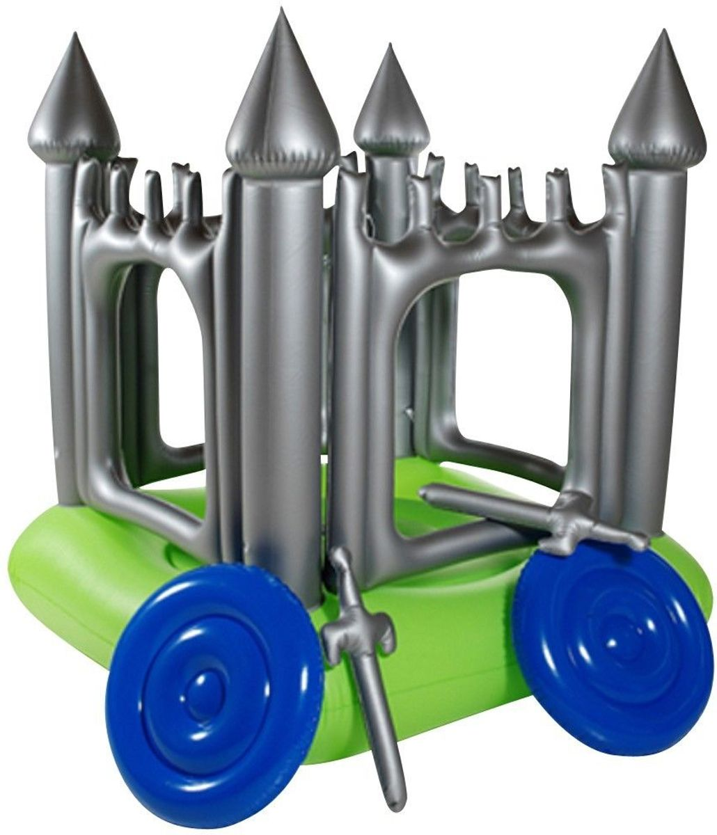 Springkussen kasteel / springkasteel -  160x160x180cm - inclusief accessoires