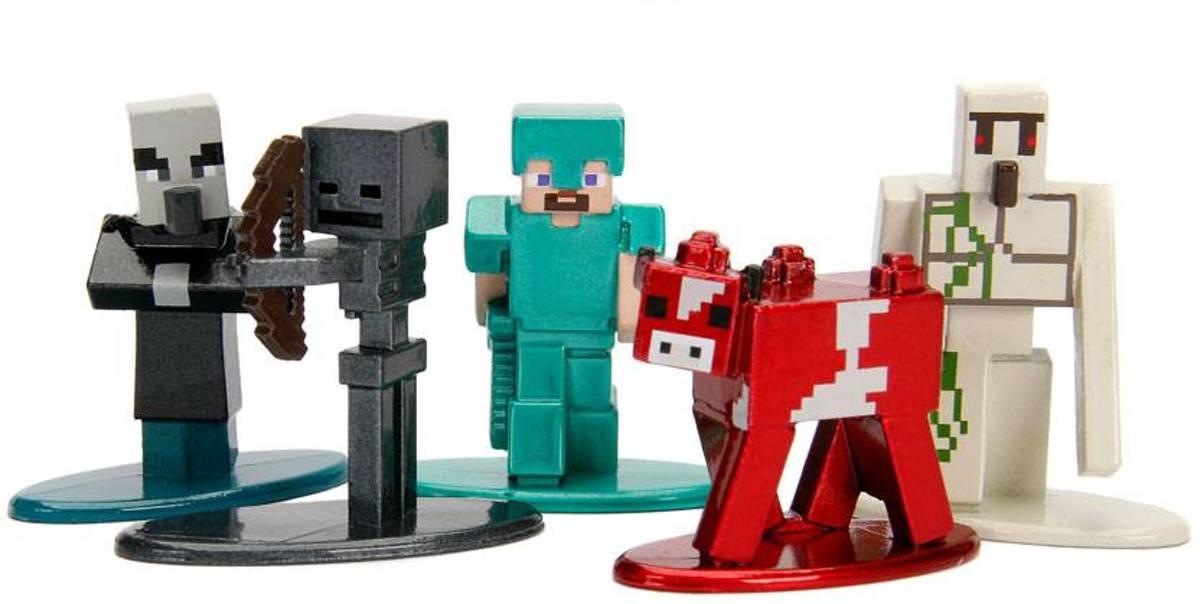 Minecraft Nano Metalfigs Diecast Mini Figuren 5-Pack Wave 2